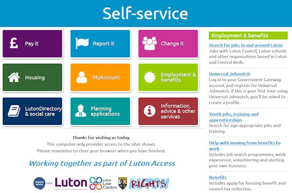 Luton Access - working together to help you solve problems.