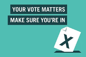 Image saying your vote matters - make sure you're in