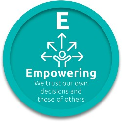 Empowering - we trust our own decisions and those of others