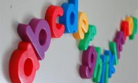 ABC fridge magnet letters