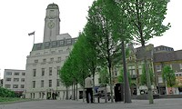 Luton Town Hall from St Georges Square