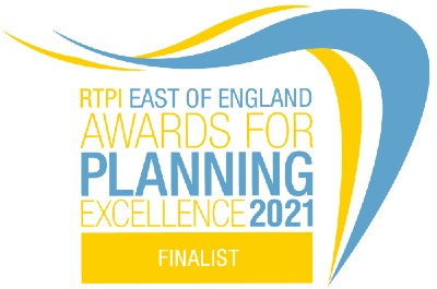 RTPI East of England Awards for planning excellence 2021 finalist - logo
