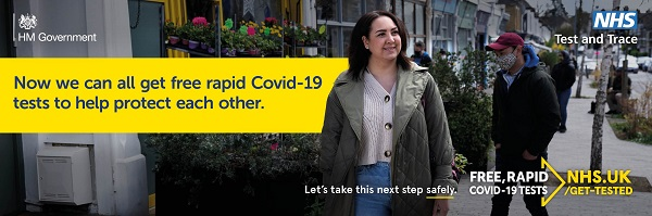 Covid rapid test poster