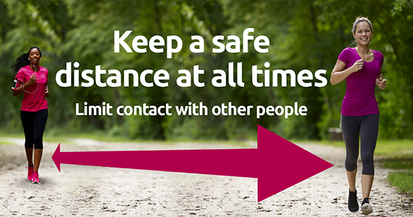 Keep a safe distance and limit contact with others