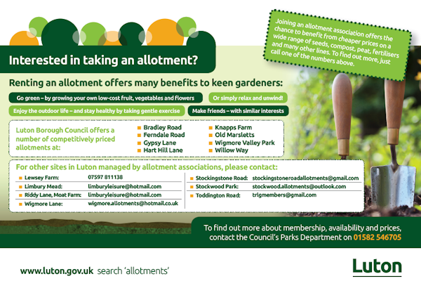 Interested in taking an allotment?