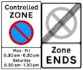 Controlled parking zone