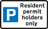 Resident permit holders only