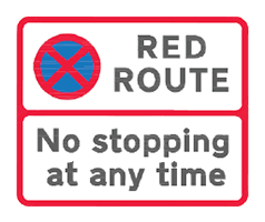 Red Route - no stopiing at any time